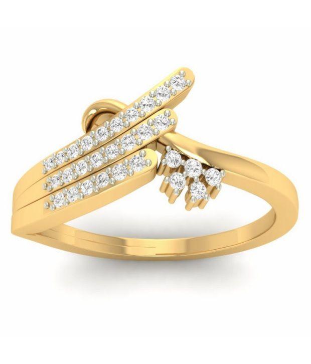 Kuberbox 14k Gold Diamond Corona Ring