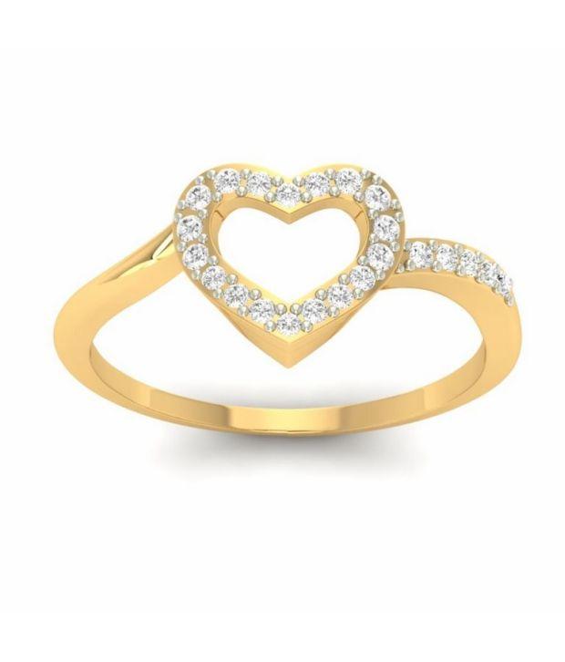 Kuberbox 14k Gold Diamond Love Affair Ring