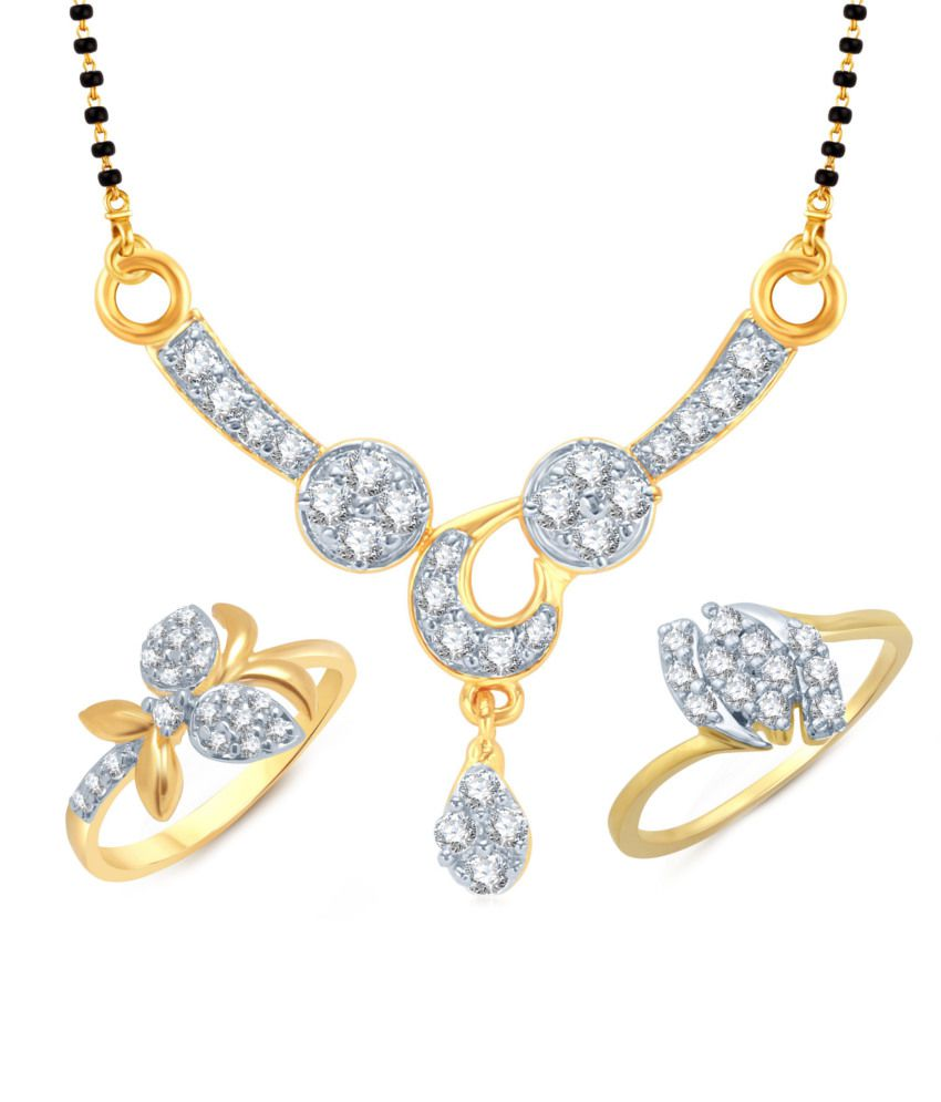 Meenaz Frolicsome Mangalsutra With Two Rings Combo Co103