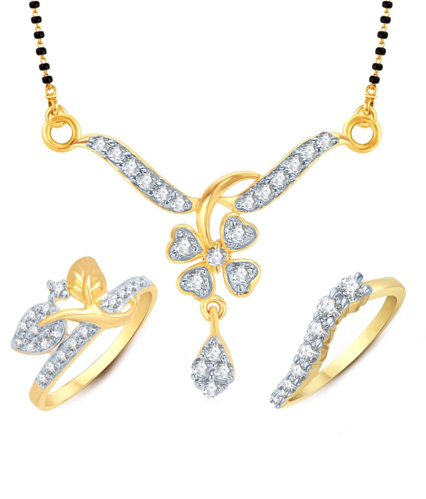 Meenaz Solemn Mangalsutra With Two Rings Combo