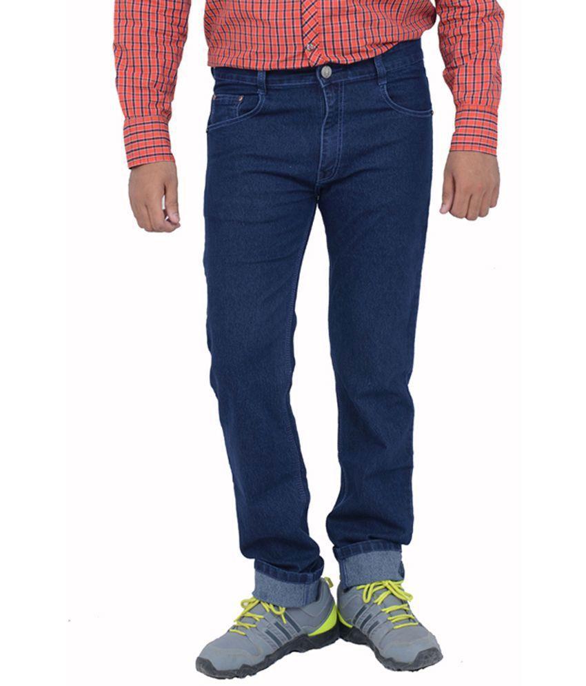 Studio Nexx Blue Cotton Regular Fit Men's Jeans