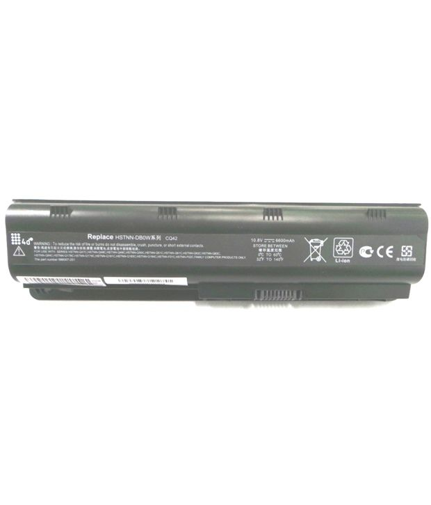 4d Hp Hstnn-db0w 9 Cell Laptop Battery
