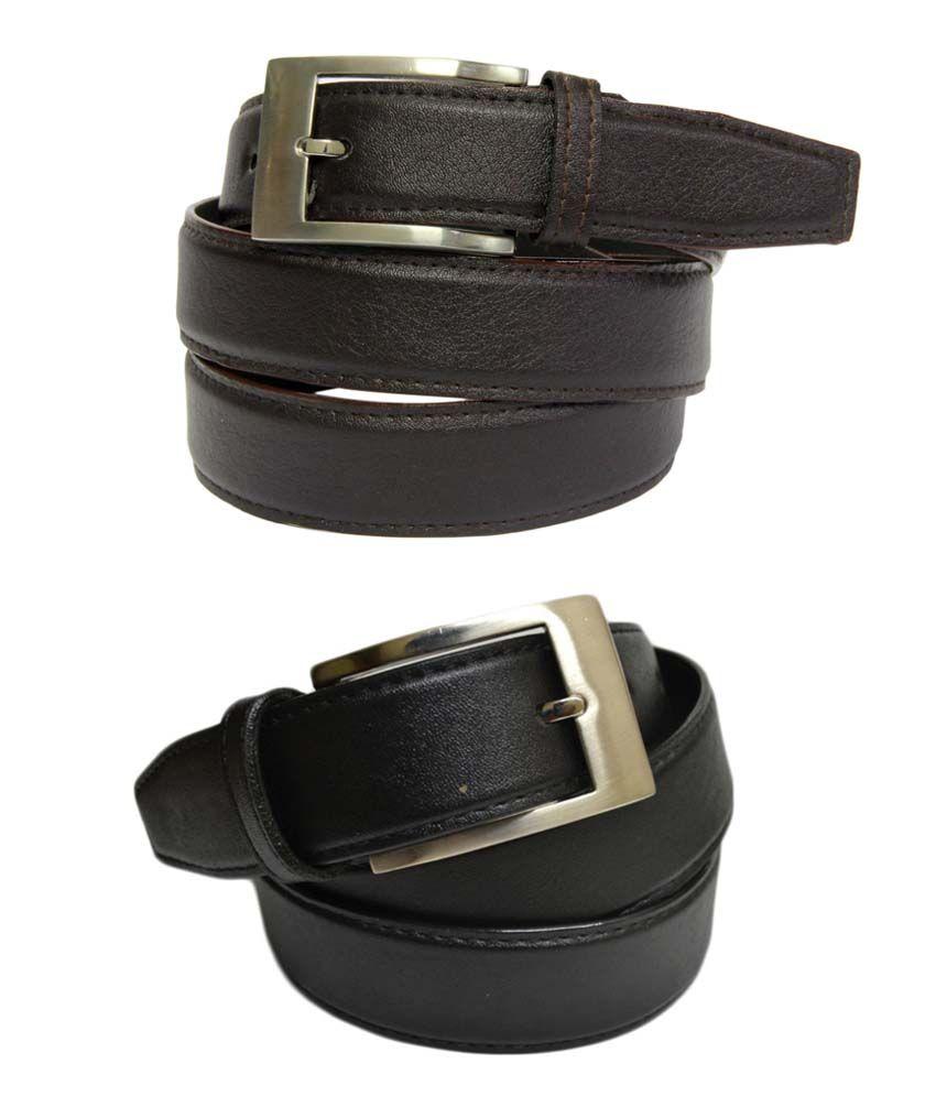 Skyways Brown Formal Single Belt ForMen (Pack of 2)
