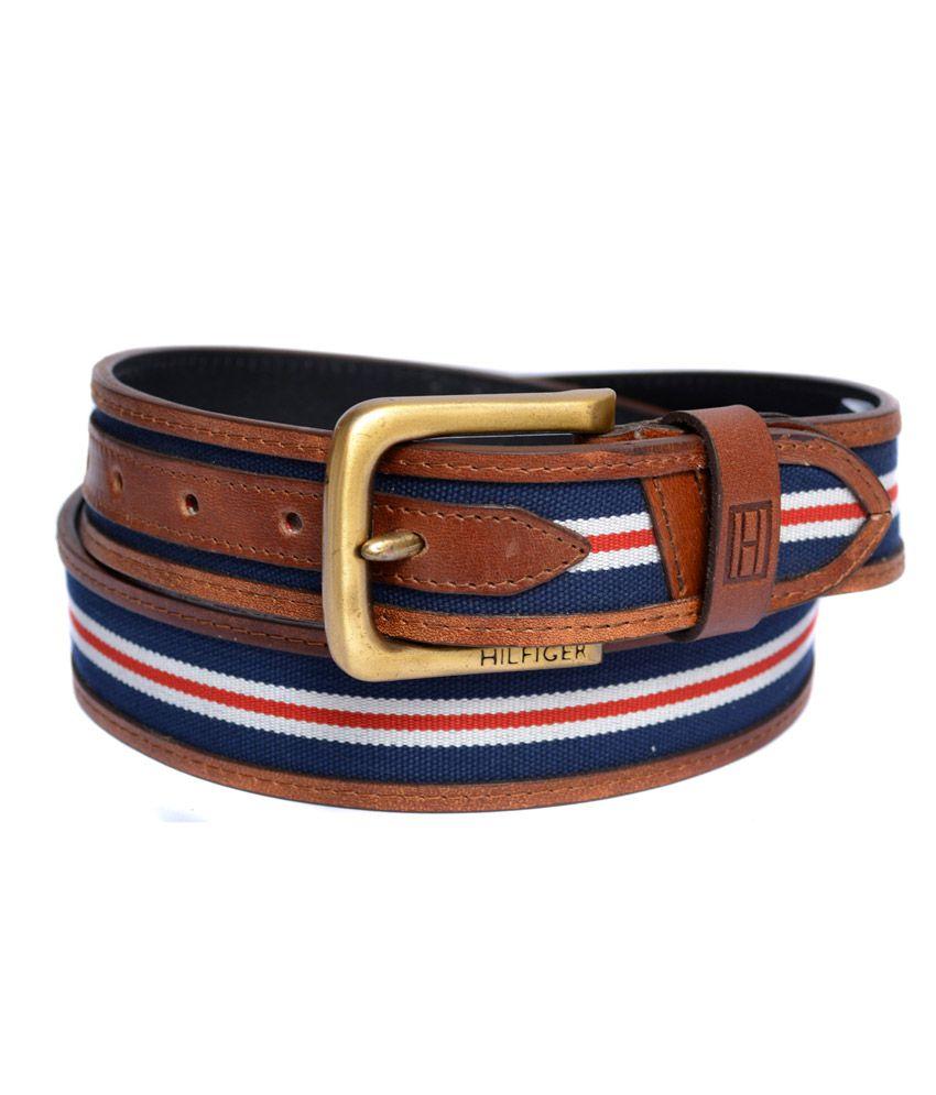 Tommy Hilfiger Tan Men's Genuine Quality Leather Belt