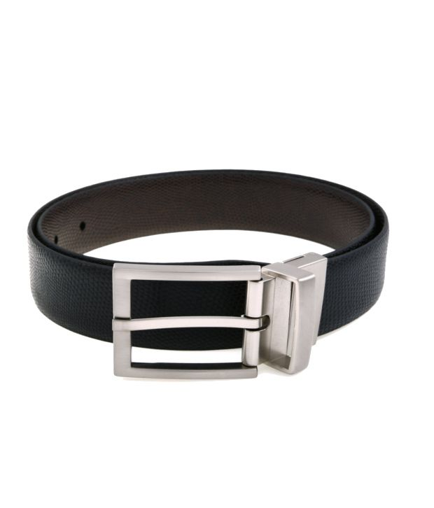 Lino Perros Black$Brown Formal Reversible Belt ForMen