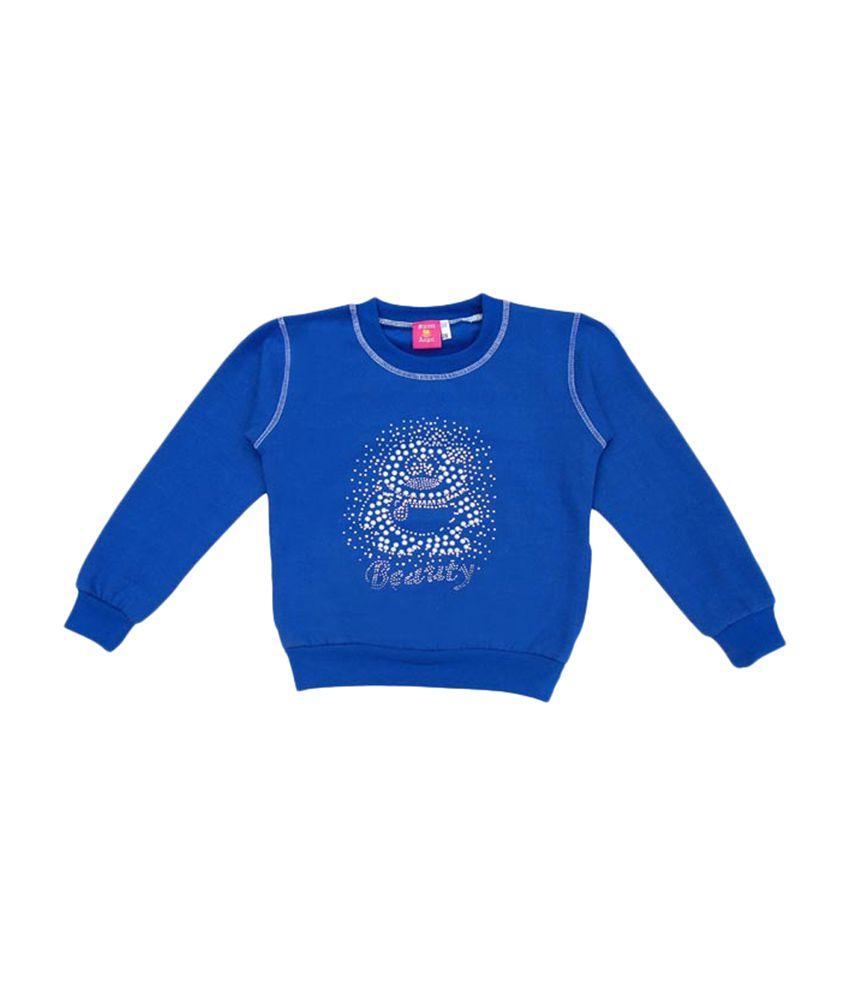 Sweet Angel Full Sleeves Blue Swanky Sweat Shirt