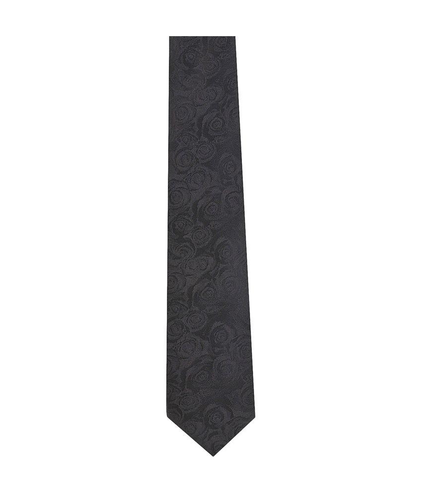 Tiekart Black Micro Fiber Formal Broad Ties