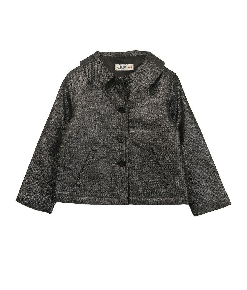Beebay Girls Quilted Charcoal Shimmer Jacket