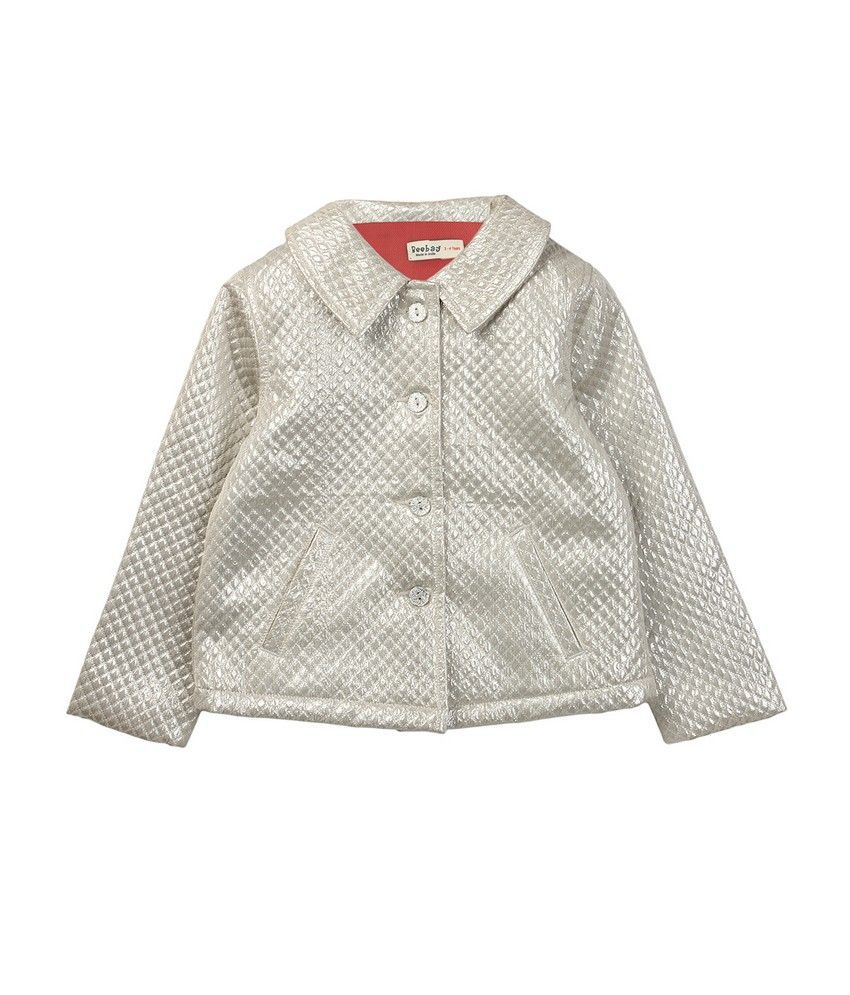 Beebay Girls Quilted Silver Jacket