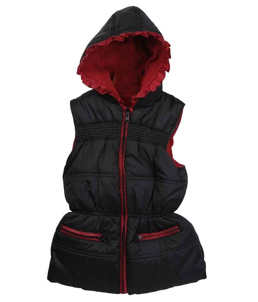 Beebay Girls Sleeveless Hooded Jacket