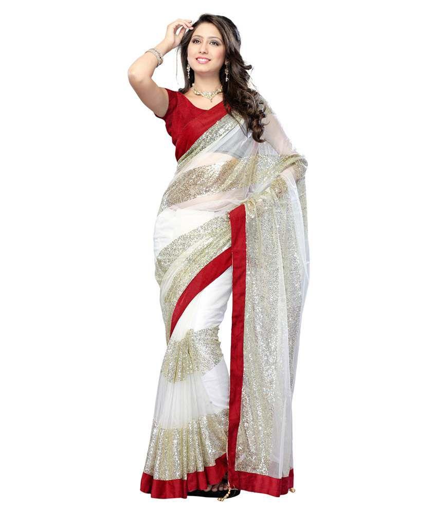 Royal N Rich Beige Net Saree