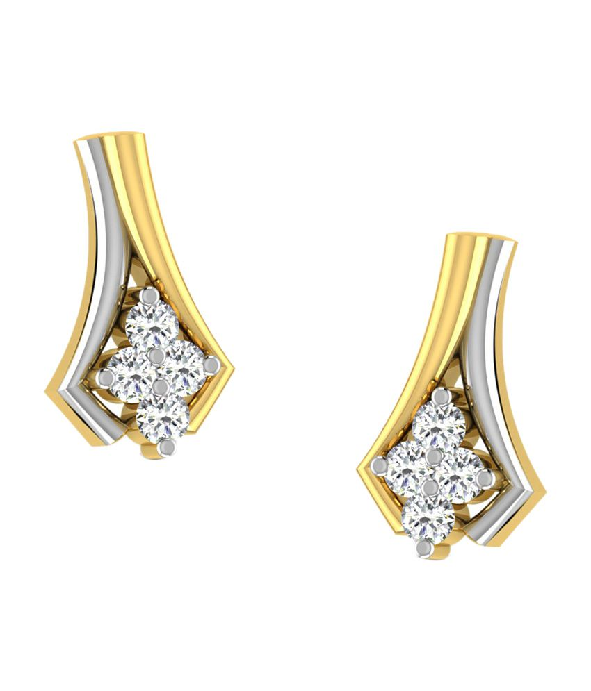 Sparkles 18kt Fabulous Stud Earrings