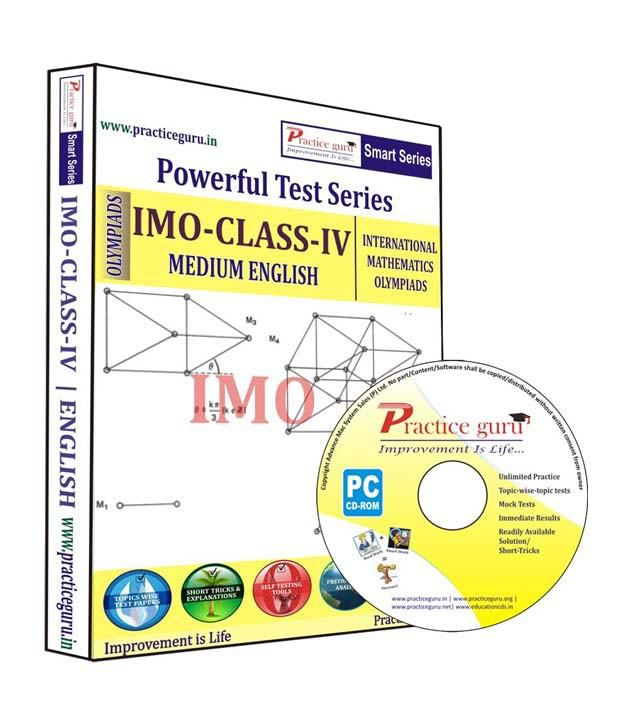 International Mathematics Olympiad (IMO) Class 4 - English (Practice Guru  Test Prep CD - Topic Wise - 40 Tests , Solved Previous Year Papers)