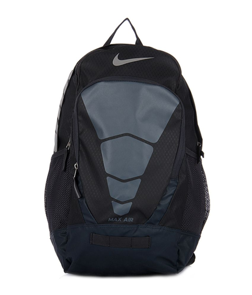 nike max air black and grey backpack international