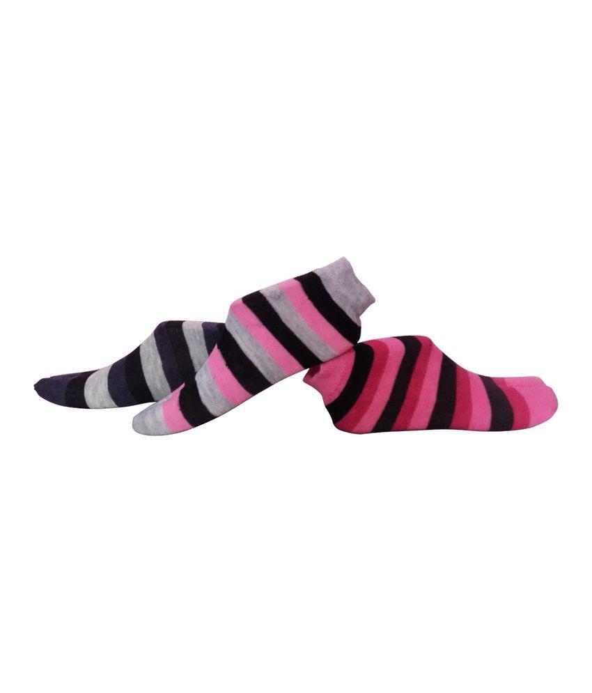 Regi Multi Cotton Casual Ankle Length Socks