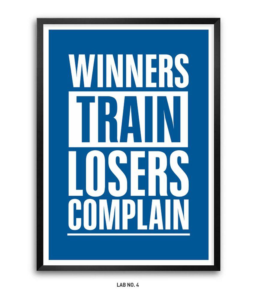 Lab No 4 Inspirational Winners Train Losers plain