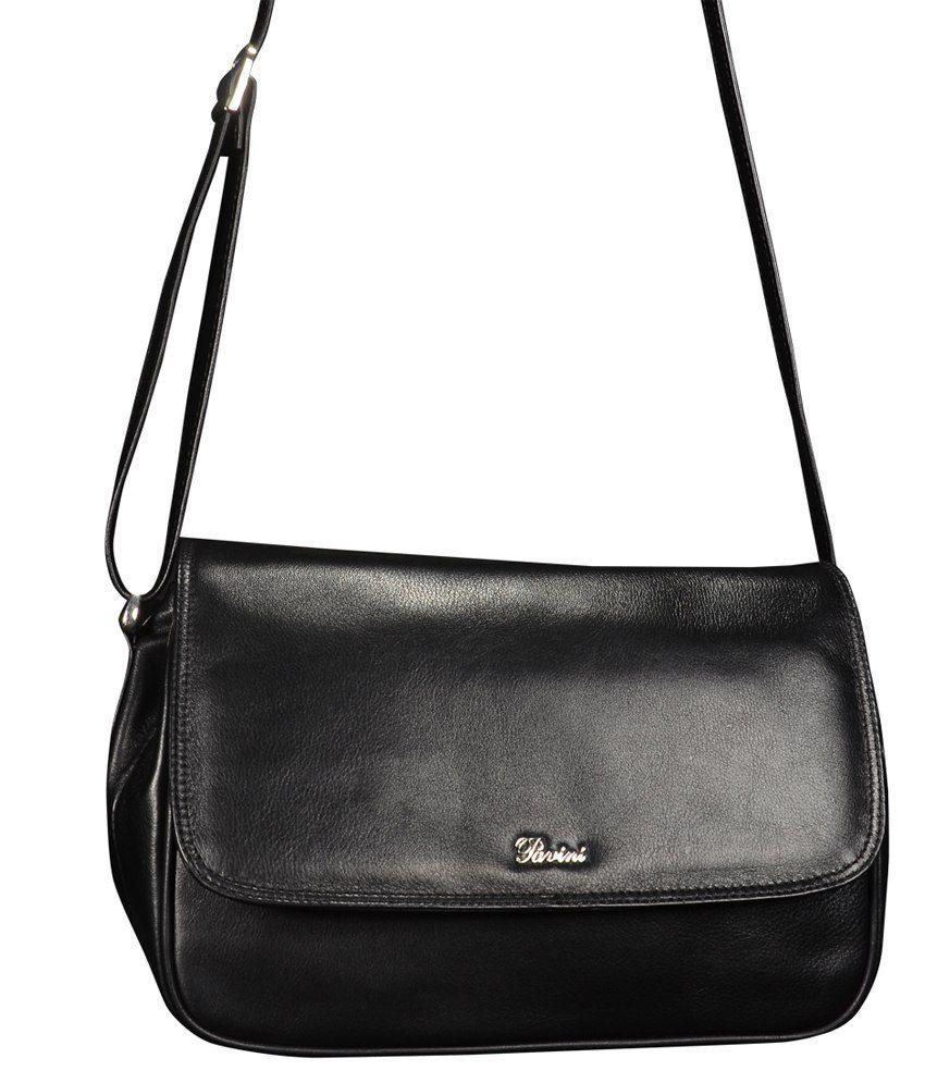Pavini Black Leather Shoulder Bag