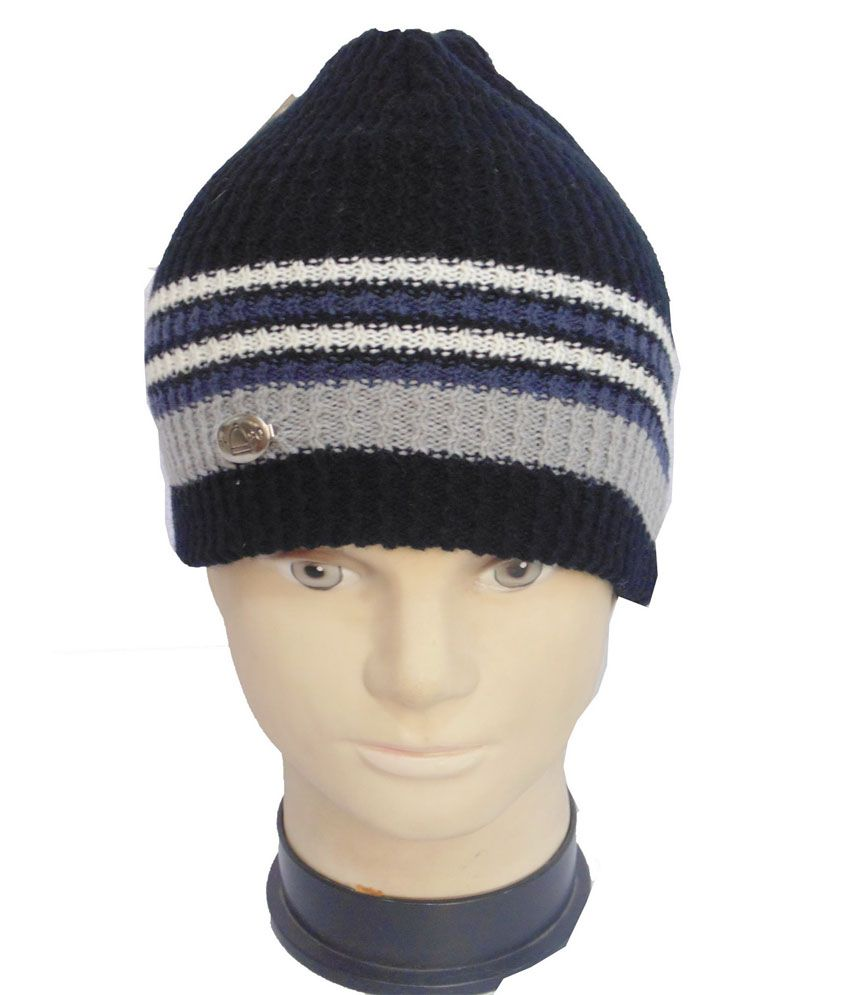 Romano Multicolor Woollen Winter Cap For Men