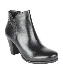 Salt 'n' Pepper Black Block Boots