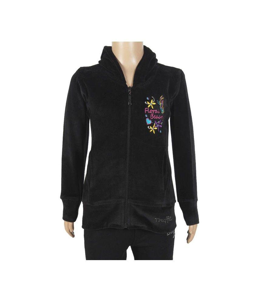 PURPLE NASTY Full Sleeve Black Color Sweatshirt For Kids