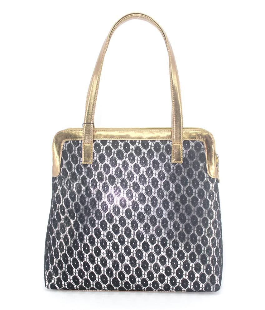 Plasto Art Black Women's Handbag (487)