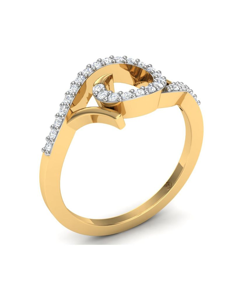 Theme Jewels Casual LR-0066, Certified Real Diamond & 14Kt Hallmarked Yellow Gold Ring
