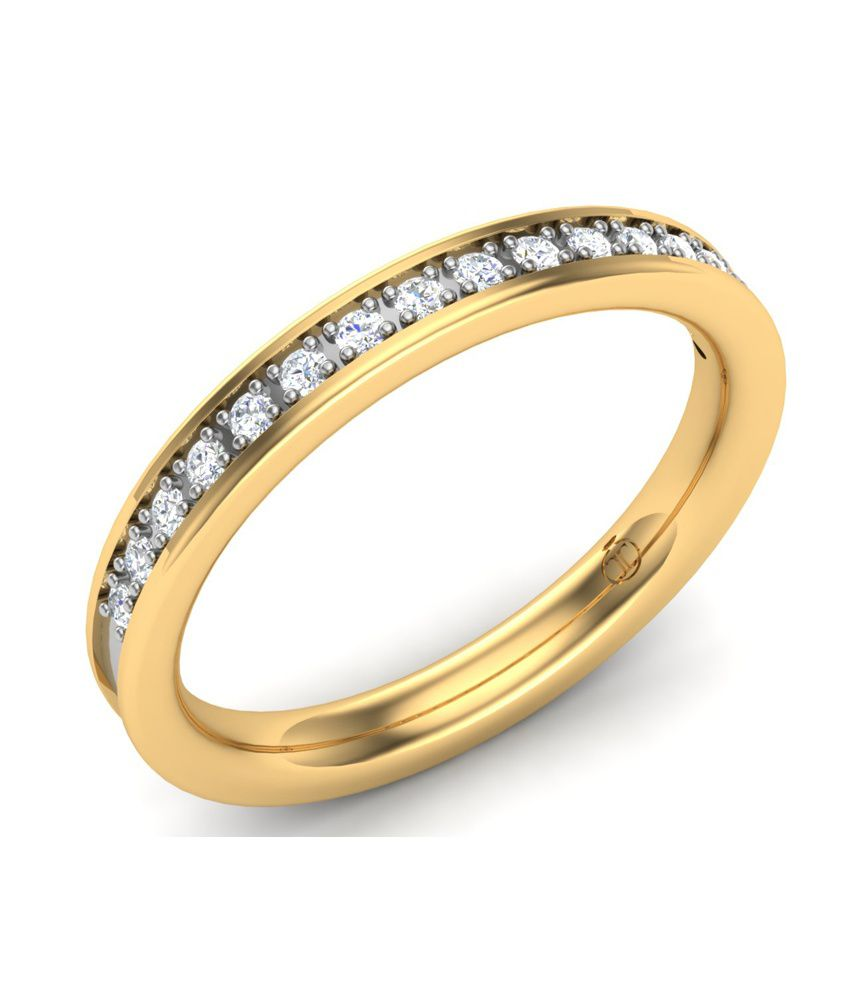 Theme Jewels Band LR-0069, Certified Real Diamond & 18Kt Hallmarked Yellow Gold Ring