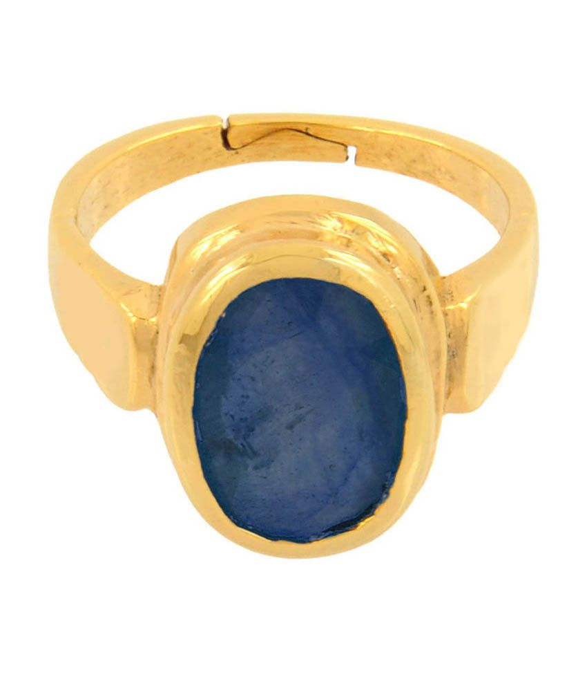 Avataar Panch Dhatu Astrological Blue Sapphire Gemstone Adjustable Ring 5.25 Ratti