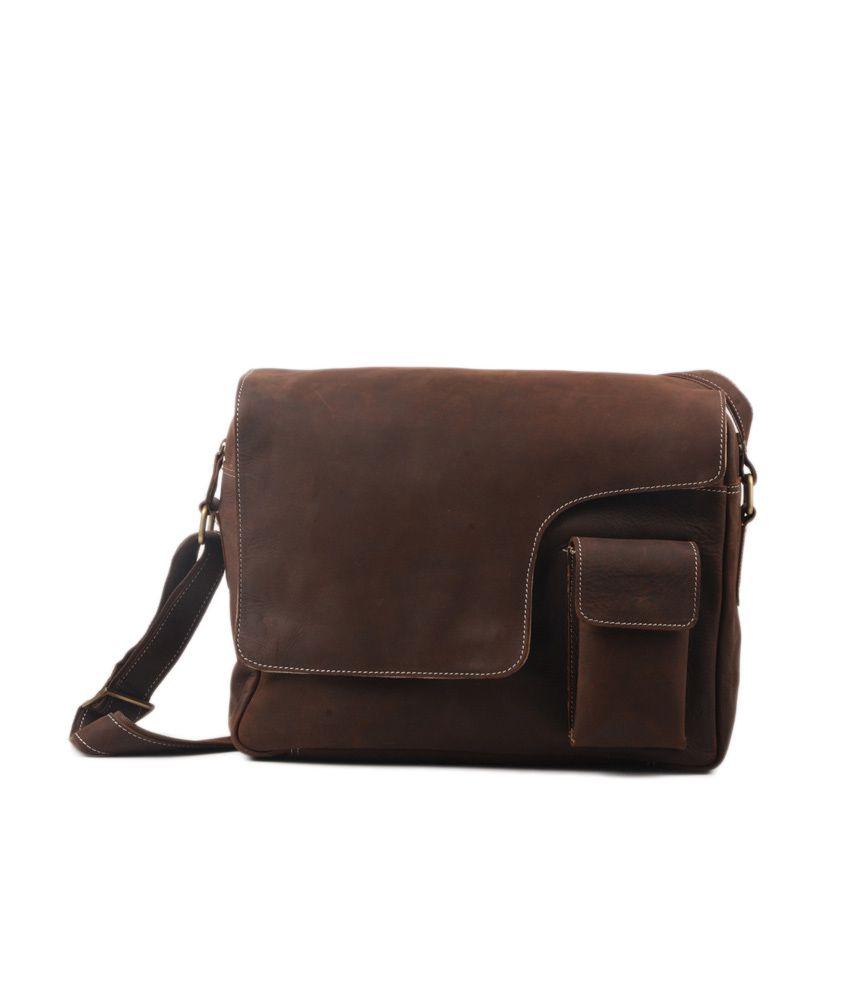 Naethanz Leather Messenger Bag