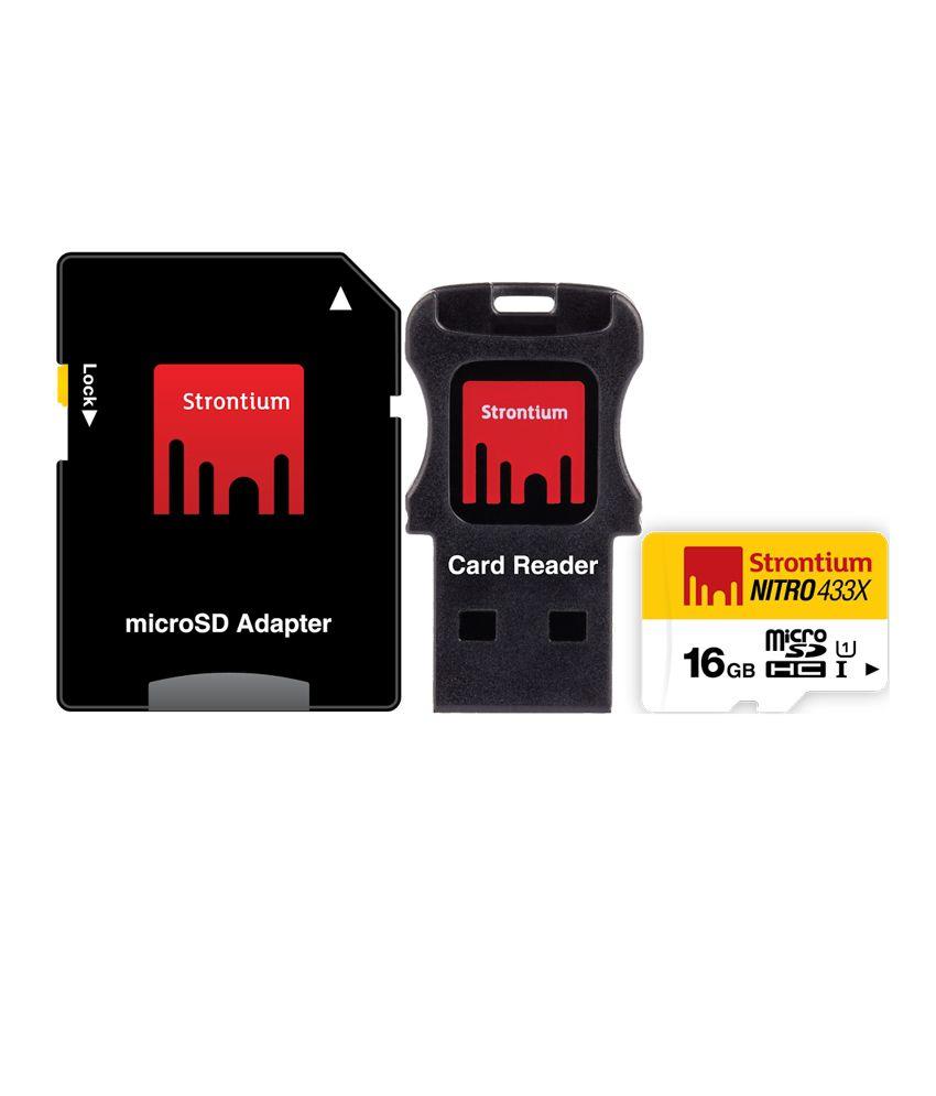 Strontium 16GB Nitro Micro SD Card 65MB/S (3in1)