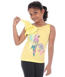 Bio Kid Yellow Sleeveless Top s- Pack of 1