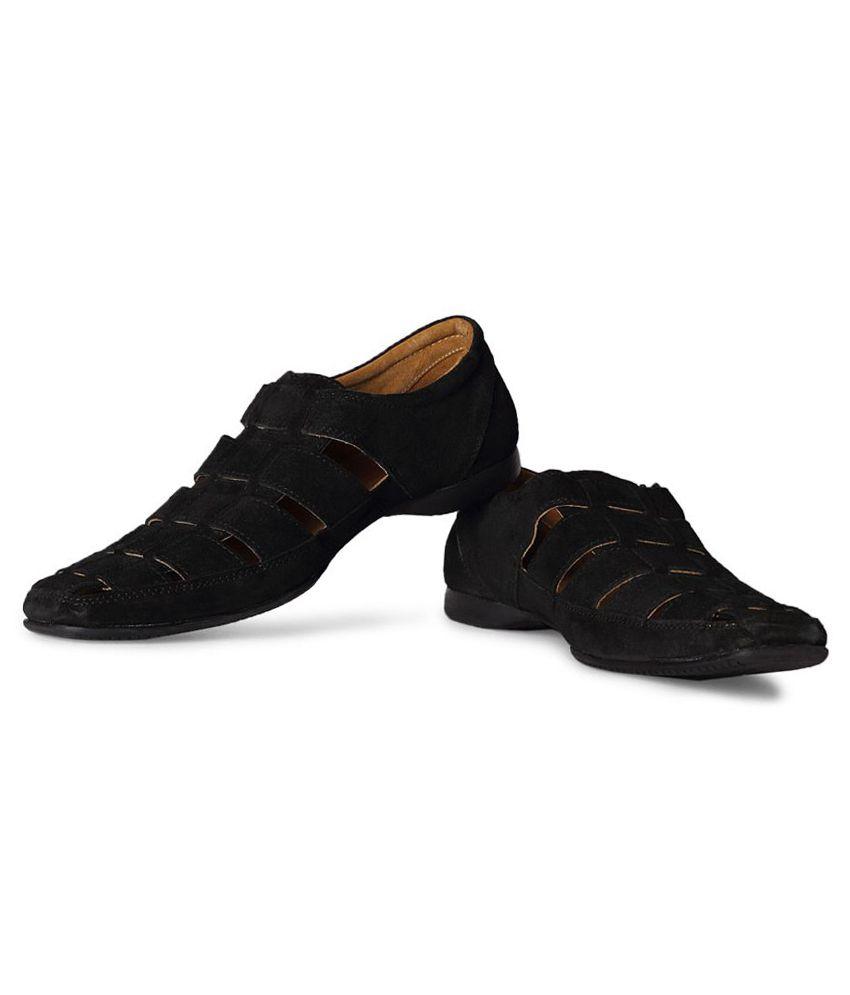 cc2a08eef Allen Solly Black Sandals Price in India- Buy Allen Solly Black Sandals  Online at Snapdeal