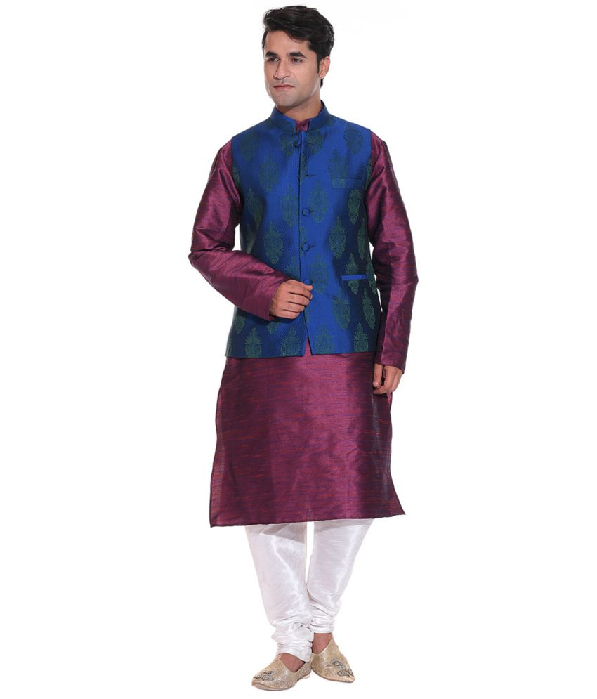 Blue Party Wear Nehru Jackets