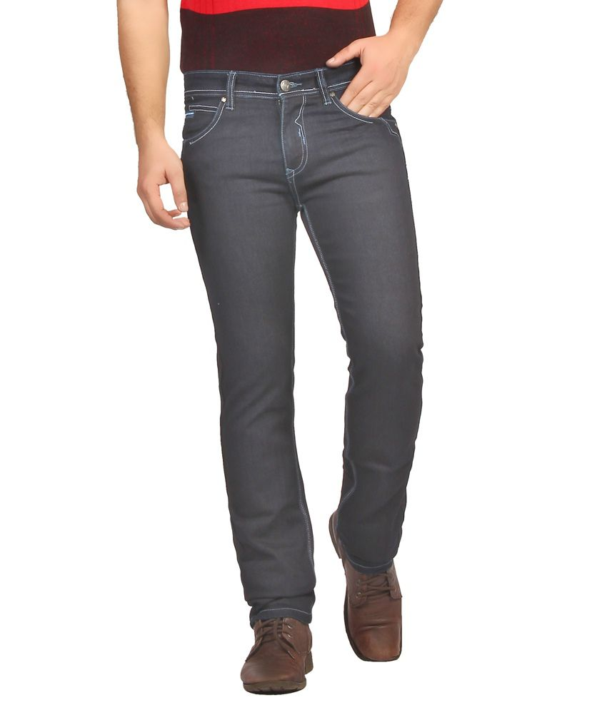 Fn Jeans Stylish Navy Blue Slim Fit Low Rise Denim For Men | Fnj9148