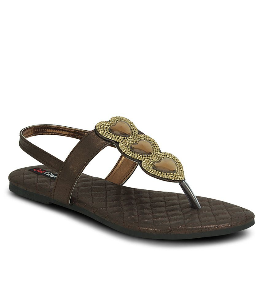 Get Glamr Brown Sandal