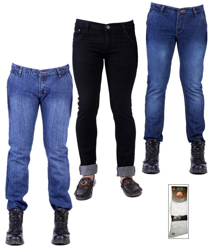Ansh Fashion Wear Multicolor Stretchable Men's Jeans Combo ...