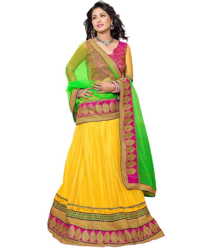 0419bd04bb9 Indiawear Akshara(heena Khan) Designer Lehenga Choli - Buy Indiawear  Akshara(heena Khan) Designer Lehenga Choli Online at Best Prices in India  on Snapdeal