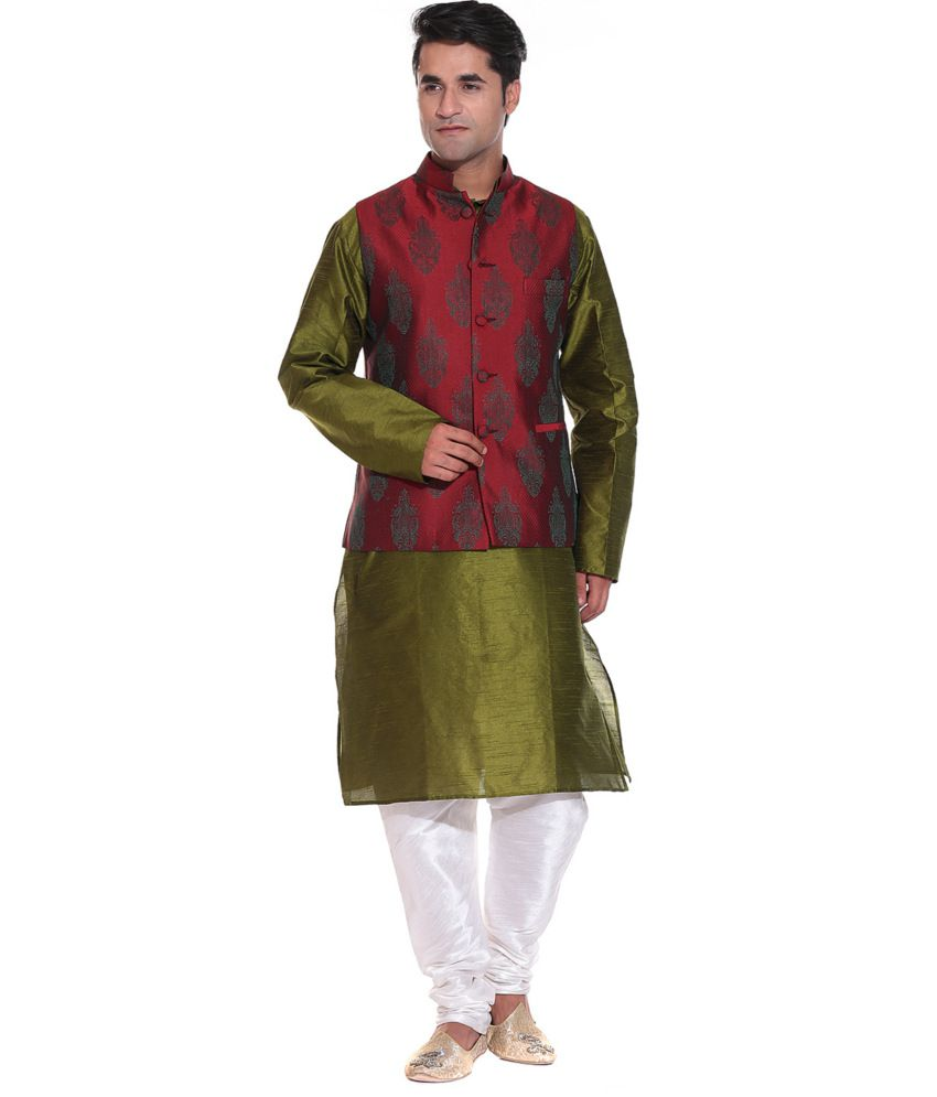 Maroon Party Wear Nehru Jackets