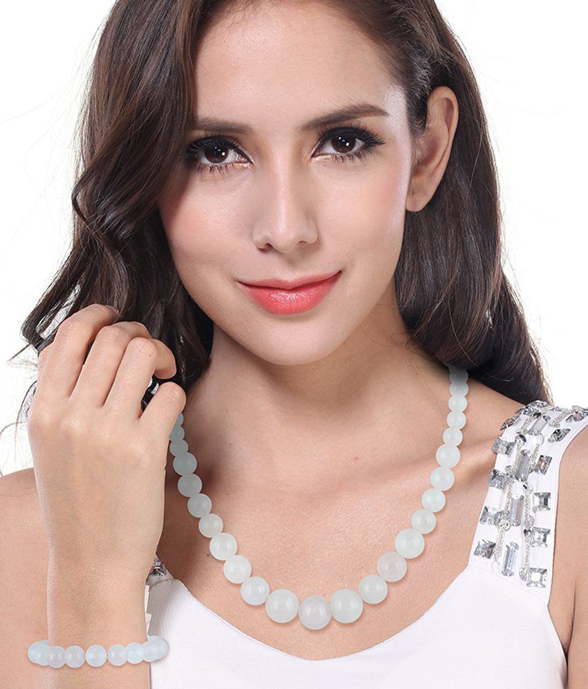 Pearlz Ocean White Necklace Set