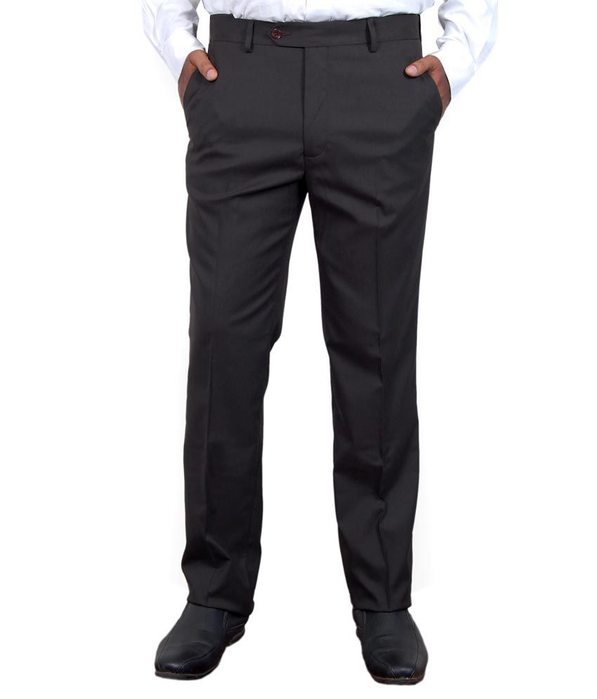Super Trouser Coffee Poly Viscose Slimfit Trouser