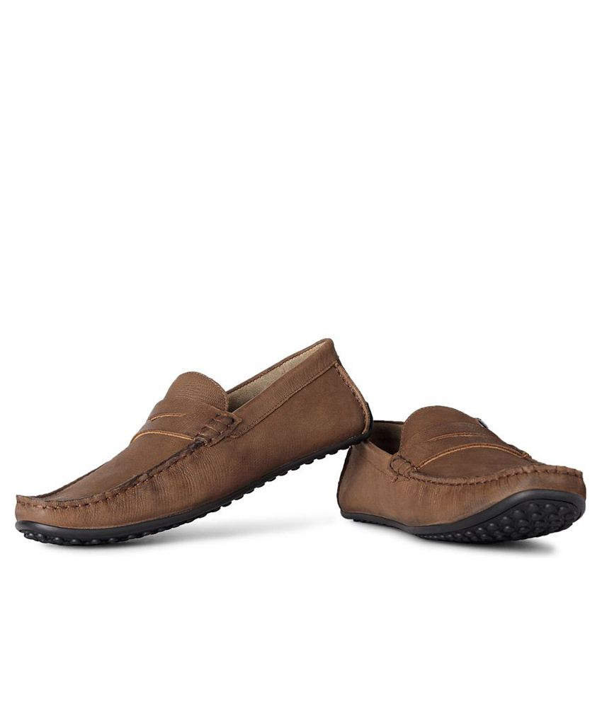 a1125783afd Louis Philippe Brown Loafers - Buy Louis Philippe Brown Loafers Online at  Best Prices in India on Snapdeal