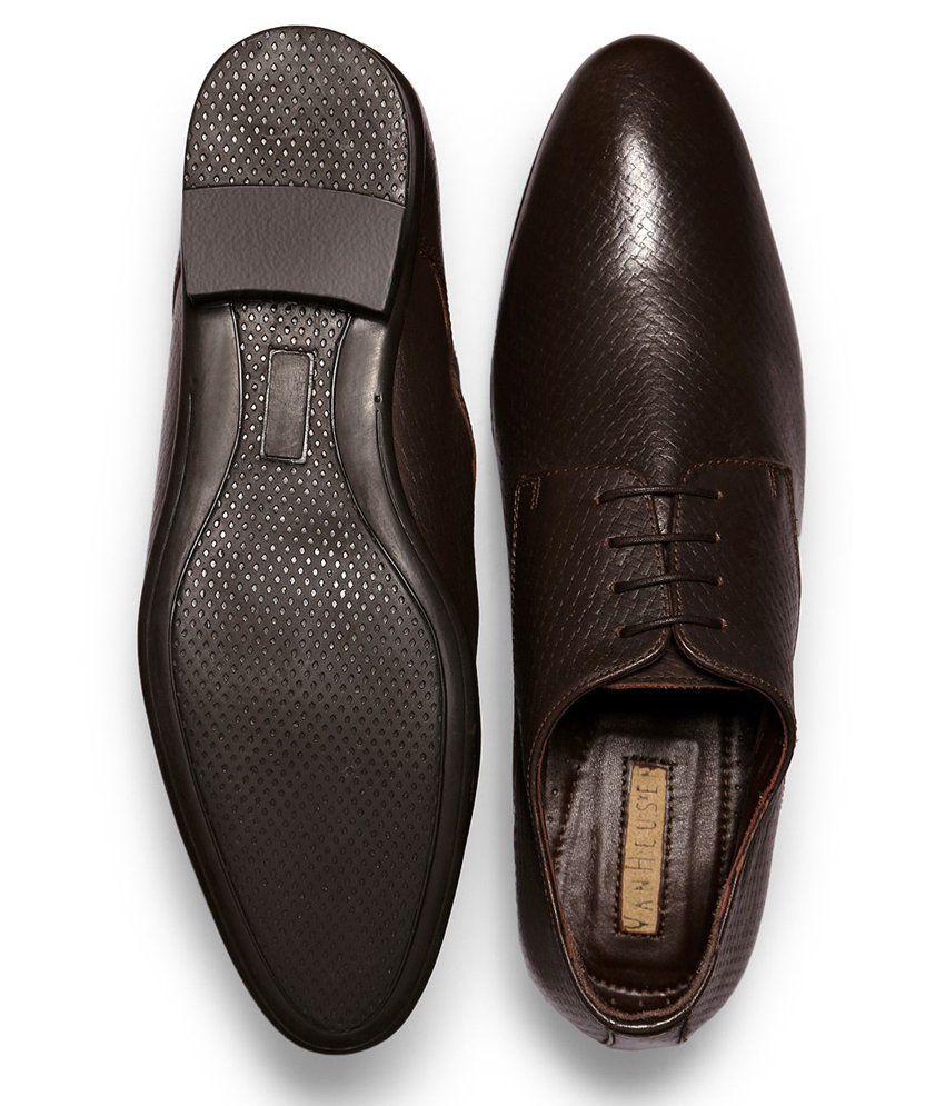 32f871d2d3a Van Heusen Brown Formal Shoes Price in India- Buy Van Heusen Brown ...