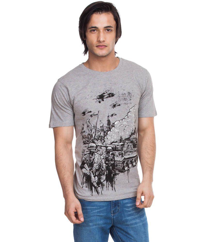 Zovi Warzone Warrior Dove Grey Graphic T-shirt