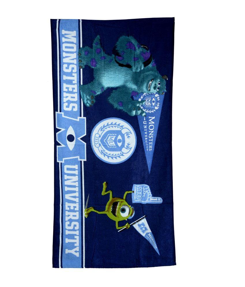 Disney Sassoon Blue Cotton Bath Towel