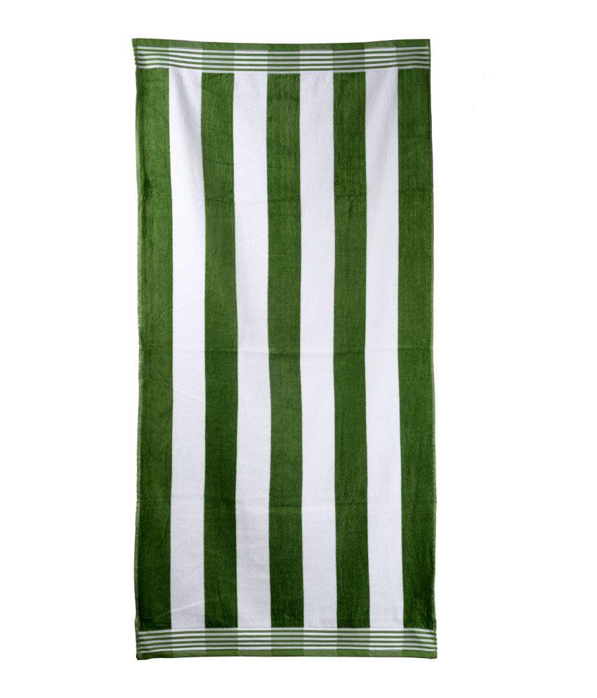 Sassoon Green Cotton Bath Towel