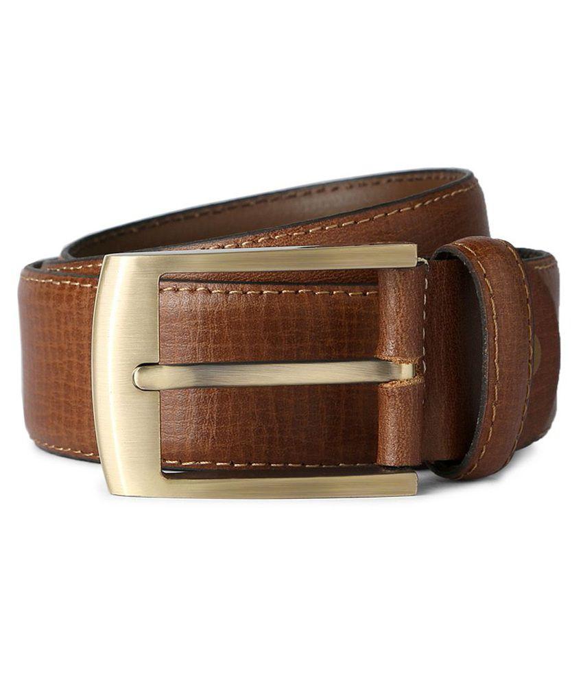 Van Heusen Brown Formal Single Belt For Men