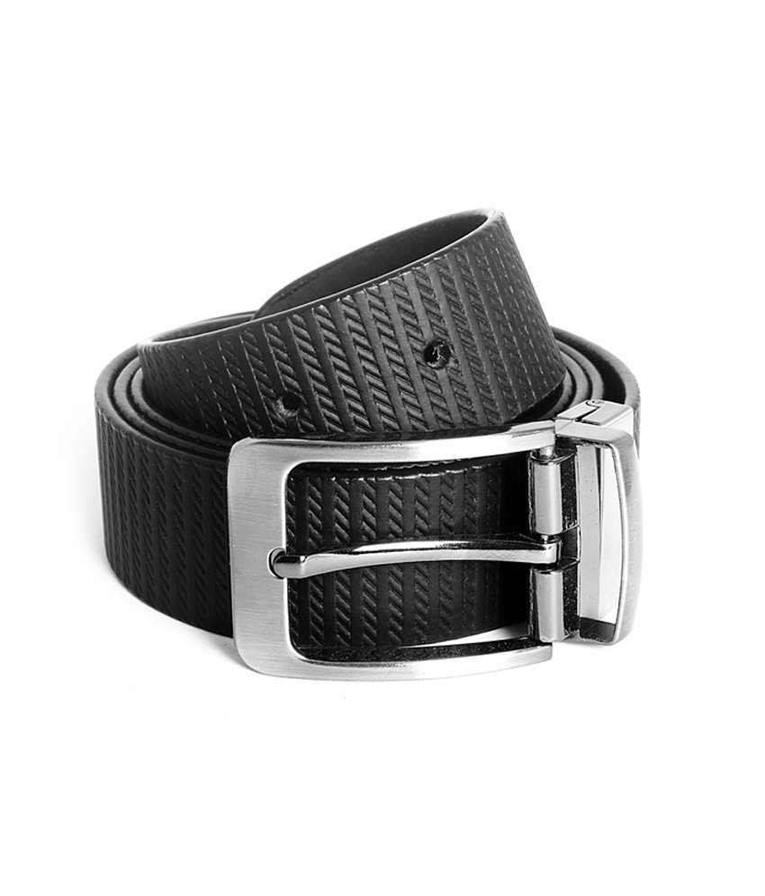 Ligans Ny Black Formal Leather Belt
