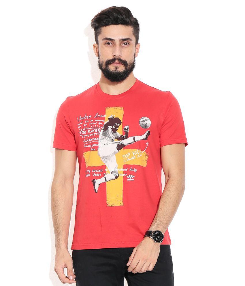 Umbro Red Cotton T-shirt
