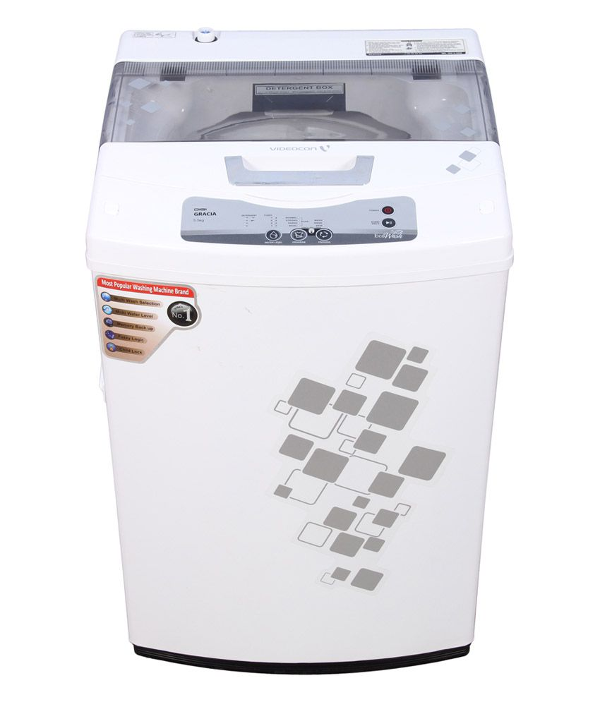 Videocon 5.5 Kg Digi Gracia VT55H12 Control Fully Automatic Top Load Washing Machine White