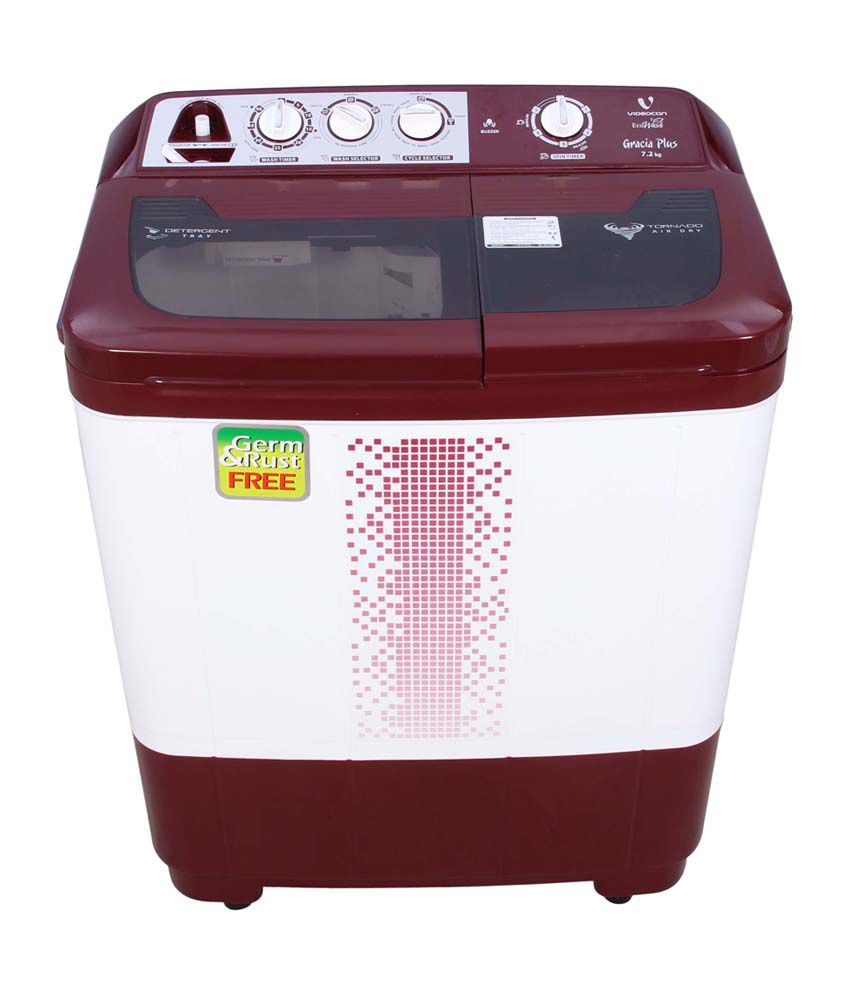 Videocon 7.2 Kg VS72H12 Control Semi Automatic Top Load Washing Machine